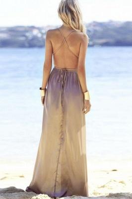 Sexy V-Neck A-line Backless Prom Dresses | Side Slit Evening Dresses_3