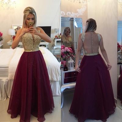 Sweetheart Burgundy Chiffon Long Prom Dress Popular Plus Size Formal Evening Dresses BMT020_3