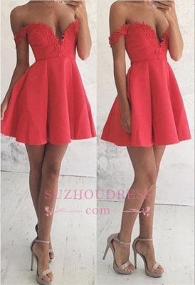 Off The Shoulder Newest Lace Mini Party Dresses  A-line Homecoming Dress BA6906_2