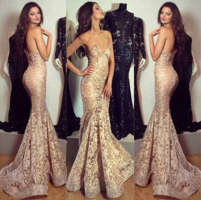 Stylish Sexy  Evening Dress Mermaid with Lace Appliques Charming Party Dress BO7341_2