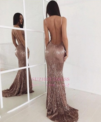 Backless Sweep Train  Evening Dress Beading Sequin Sexy New Arrival Prom Dress BA6095_1