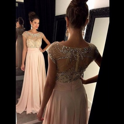 Gorgeous Empire Pink Beading Prom Dress Latest Zipper Chiffon  Formal Occasion Dresses_3