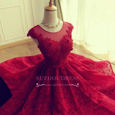 Cap Sleeves Lace Appliques A-Line  Short Homecoming Dresses_3