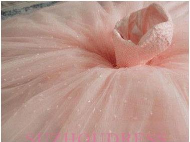 Chic Sweetheart Pink Tulle Sleeveless Gown Ball Princess Prom Dresses_3
