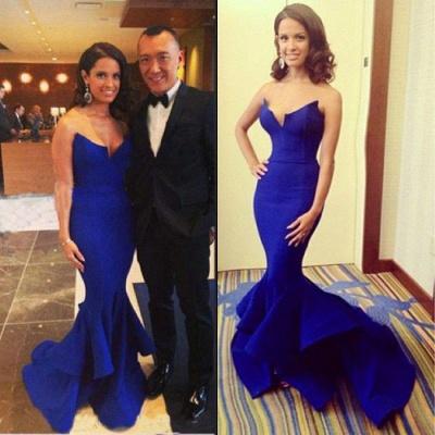 Glamorous Royal Blue Mermaid Evening Dress Long Prom Dress Online cj0025_2