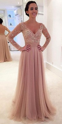 New Arrival Long Sleeve Crystal Prom Dress with Detachable Train Latest Lace Evening Gowns JT145_1