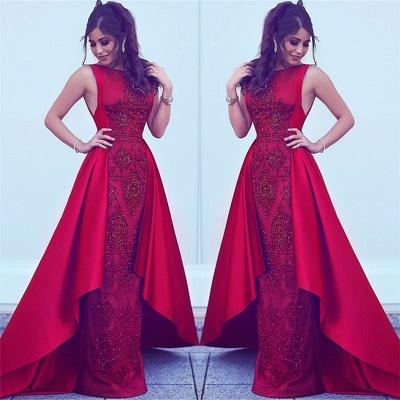 Beads Sequins Popular Evening Dresses Overskirt Red Sleeveless Sexy Formal Dress  BA7428_3
