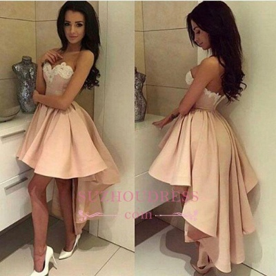 High Front Low Back Party Dress Sweetheart Modern High-low Lace  Homecoming Dress BA6125_3