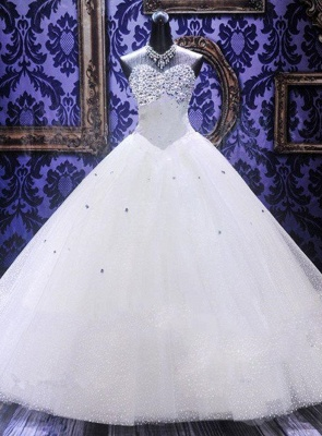 Rhinestone Stunning  Wedding Dresses Ball Gown Sweetheart Elegant Luxurious Bridal Dresses_1