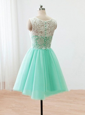 Cute Light Green Short Lace Homecoming Dress New Arrival Simple  Fitted Bridesmaid Dresses BO8527_2