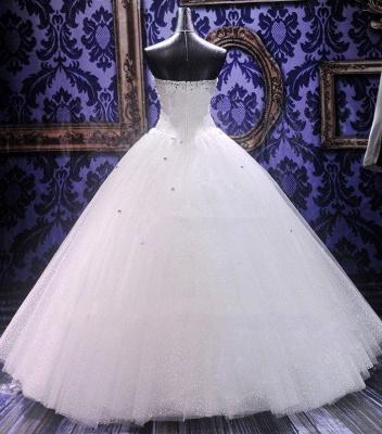 Rhinestone Stunning  Wedding Dresses Ball Gown Sweetheart Elegant Luxurious Bridal Dresses_2