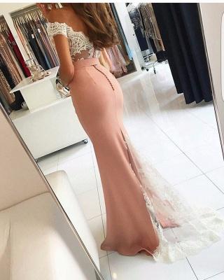 Lace-Appliques Off-the-shoulder Modern Mermaid Long Prom Dress BA4464_3
