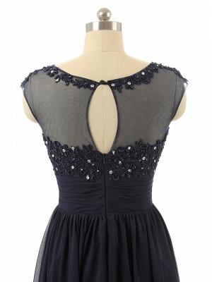 Elegant Black Chiffon Long Prom Dress with Beadings A-Line Ruffles Custom Made Dresses for Women_4