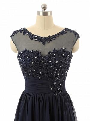 Elegant Black Chiffon Long Prom Dress with Beadings A-Line Ruffles Custom Made Dresses for Women_3
