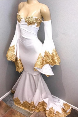 Sweetheart Mermaid Prom Dresses | Long Sleeves Appliques Evening Dresses mq0_1