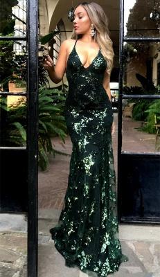 Sexy Open Back Burgundy Evening Dresses    Sequins Appliques V-neck  Formal Dress AN0011_4