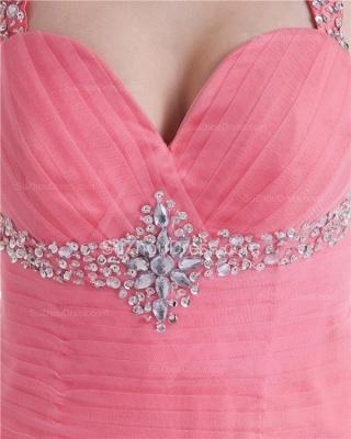Elegant Halter Sleeveless Quinceanera Dresses  Sequins Crystal Floor Length Evening Dresses_2