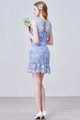Lavender Short Lace Homecoming Dress  Summer Party Dress for Cocktail_3