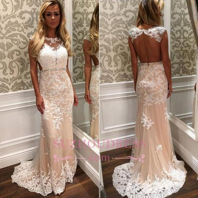 Crystal Long Tulle Lace Gorgeous Open-Back Prom Dress BA4294_1
