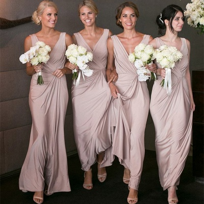 Elegant V-neck Sexy Bridesmaid Dresses   Long Party Dress for Maid of Honor BA7824_3