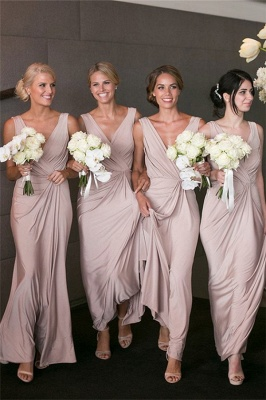 Elegant V-neck Sexy Bridesmaid Dresses   Long Party Dress for Maid of Honor BA7824_1