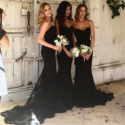 Sweetheart Pretty   Bridesmaid Dresses Lace Sexy Maid Of Honor Dresses Online_4