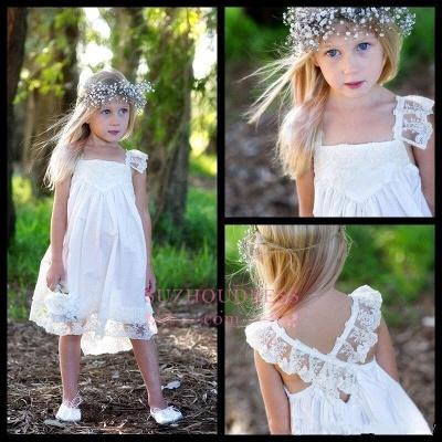 Cute Crisscross Back Capped Sleeves  Flower Girls Dresses_4
