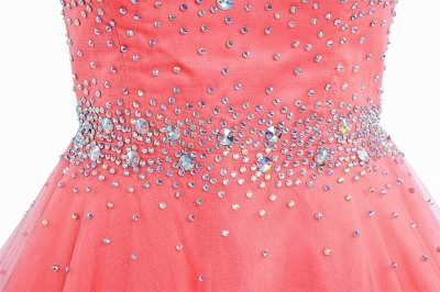 Latest Pink Beadings Mini Homecoming Dress Popular Custom Made Zipper Short Cocktail Dresses_4