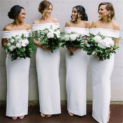 Off The Shoulder Sexy Bridesmaid Dresses | Sheath Elegant  Wedding Party Dresses for Bridesmaid_3