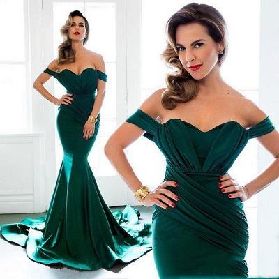Off Shoulder Sexy Formal Evening Dress Sheath  Long Prom Dresses Custom Made CE0094_2
