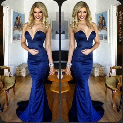 Sweetheart Mermaid Sexy Party Dress New Arrival Blue Long Evening Gowns BA4186_3