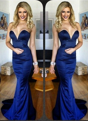 Sweetheart Mermaid Sexy Party Dress New Arrival Blue Long Evening Gowns BA4186_1