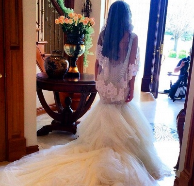 Luxurious Mermaid  Wedding Dress Lace Sweetheart Sexy Bridal Gowns with Soft Tulle_4