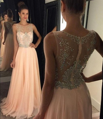 New Arrival Crystal Prom Dress Latest Floor Length Custom Made Evening Gown_1