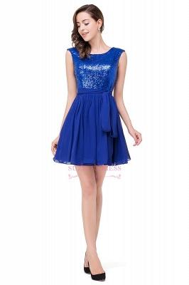 Short Sleeveless Sequins Elegant Chiffon Homecoming Dress_5