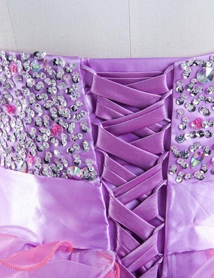 Cute Purple Sweetheart Short Homecoming Dress Latest Bowknot Crystal Ball Gown Cocktail Dresses_5