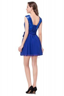 Short Sleeveless Sequins Elegant Chiffon Homecoming Dress_3