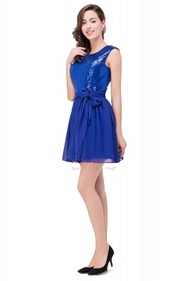 Short Sleeveless Sequins Elegant Chiffon Homecoming Dress_6