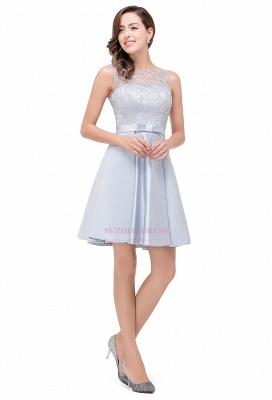 Sleeveless Short Zipper Elegant Lace Homecoming Dress_6