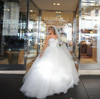 Gorgeous Sweetheart Lace Ball Gown Princess Dress Tulle Custom Made Bridal Gown BA6585_6