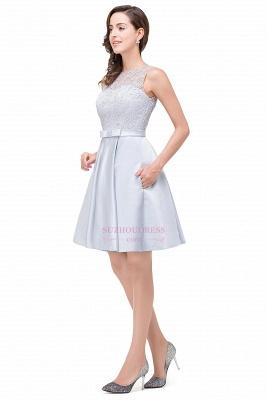 Sleeveless Short Zipper Elegant Lace Homecoming Dress_4