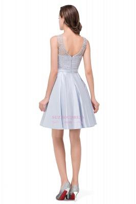 Sleeveless Short Zipper Elegant Lace Homecoming Dress_3