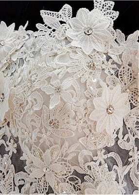 Cute Off Shoulder White Organza Mini Wedding Dress Lace Applique Custom Made Formal Short Bridal Gown BA4970_3