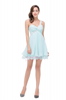 Short Chiffon One-Shoulder Elegant Homecoming Dress_2