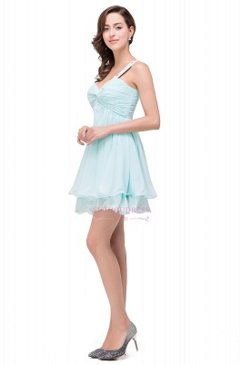 Short Chiffon One-Shoulder Elegant Homecoming Dress_4