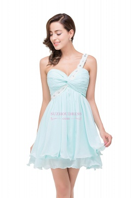 Short Chiffon One-Shoulder Elegant Homecoming Dress_5