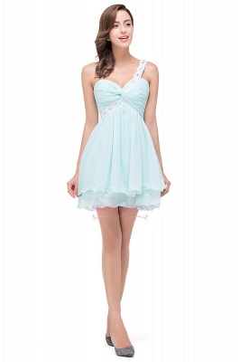 Short Chiffon One-Shoulder Elegant Homecoming Dress_6