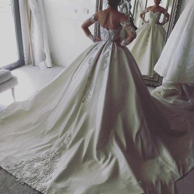 Elegant Long-Sleeve Wedding Dresses | Lace Ball Gown Bridal Dresses_3