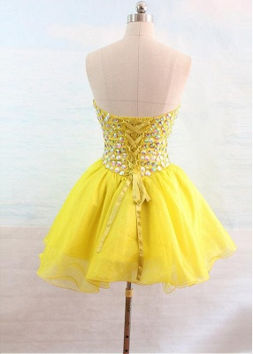 Latest Crystal Sweetheart Short Homecoming Dress Popular Lace-Up Mini Special Occasion Dresses_2