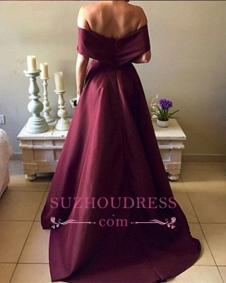 New Arrival Sexy A-Line Off-The-Shoulder Short-Sleeves Prom Dresses_3